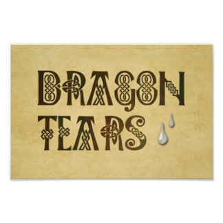 Old Parchment Paper Dragon Tears Celtic Knot Poster