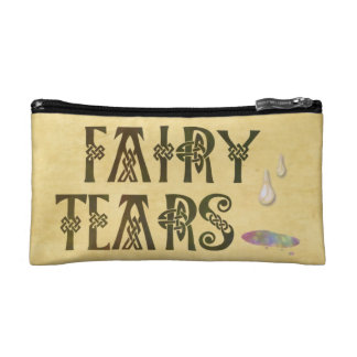 Old Parchment Paper Fairy Tears Celtic Knot Cosmetic Bag