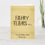 Old Parchment Paper Fairy Tears Celtic Knot Card