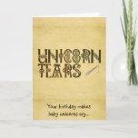 Old Parchment Paper Unicorn Tears Celtic Knot Card