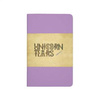 Old Parchment Paper Unicorn Tears Celtic Knot Journal
