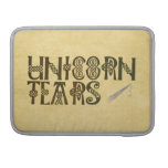 Old Parchment Paper Unicorn Tears Celtic Knot MacBook Pro Sleeves