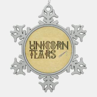 Old Parchment Paper Unicorn Tears Celtic Knot Ornament