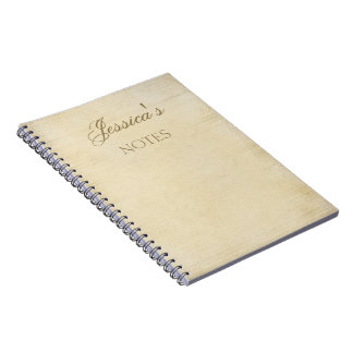 Old Parchment Personalized Notebook
