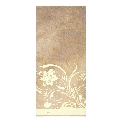 Old Parchment Shabby Chic Wedding Program Rack Card