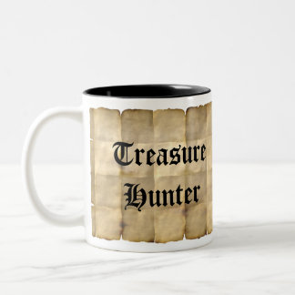 Old Parchment, Treasure Map Paper Two-Tone Coffee Mug