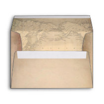 Old Parchment Vintage World Map Envelope