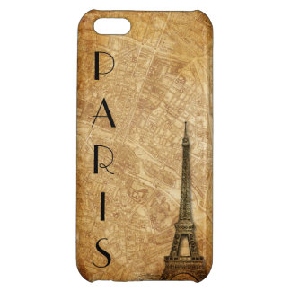 Old Paris Map and Eiffel Tower iPhone 5 Case