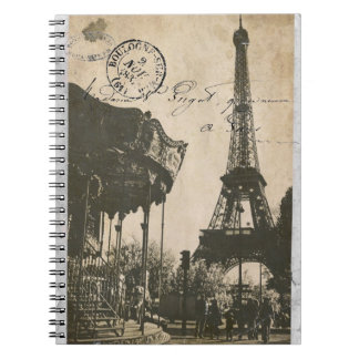 old paris post card notebook