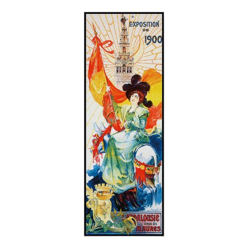 Old Paris Worlds Fair Poster Advertising