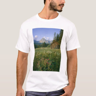 Old Park Service cabin in the Cut Bank Valley T-Shirt