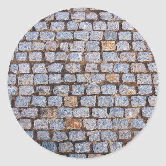 Old pavement tiles classic round sticker