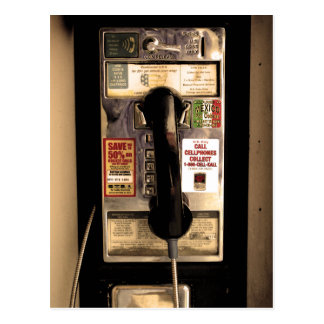Old Pay Phone Postcard