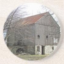 Old Pennsylvania Bank Barn Drink Coaster