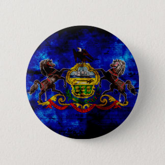 Old Pennsylvania Flag; Button