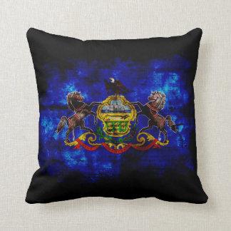 Old Pennsylvania Flag; Throw Pillows