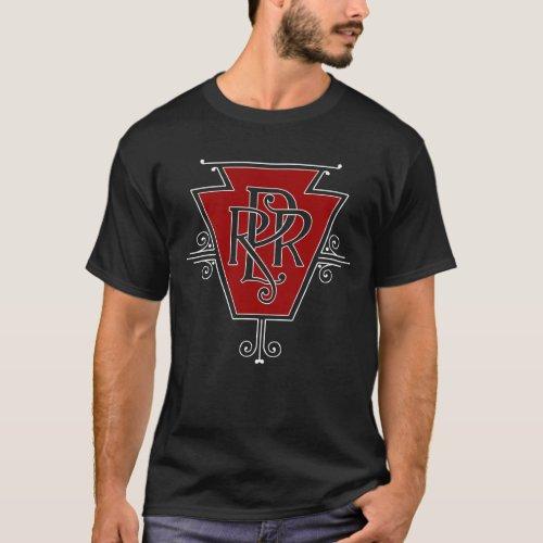 Old Pennsylvania Railroad Logo Mens Dark T_shirt