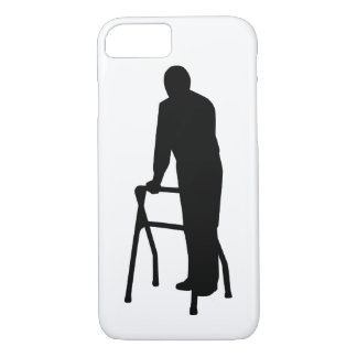 Old person man walking frame iPhone 8/7 case