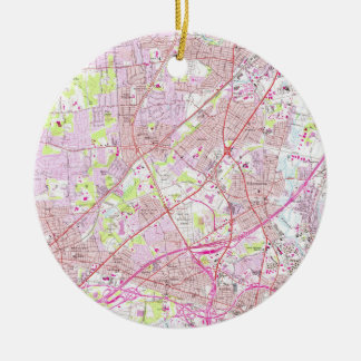 Old Perth Amboy, Rahway & Metuchen NJ Map (1956) Ceramic Ornament