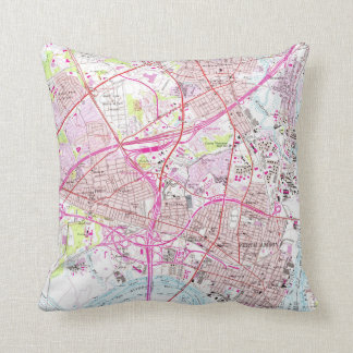 Old Perth Amboy, Rahway & Metuchen NJ Map (1956) Throw Pillow