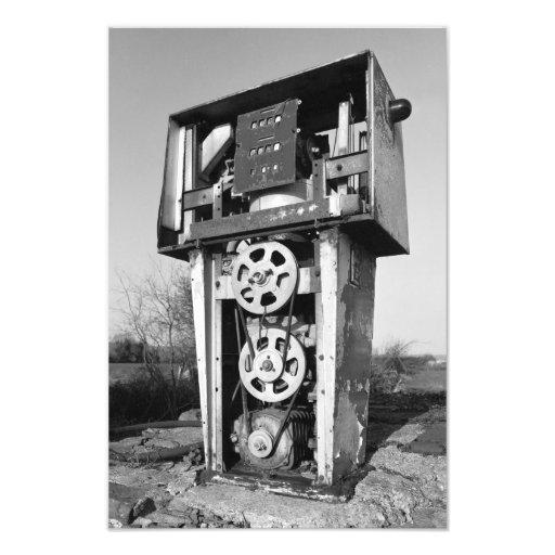 Old petrol (gas) pump art photo