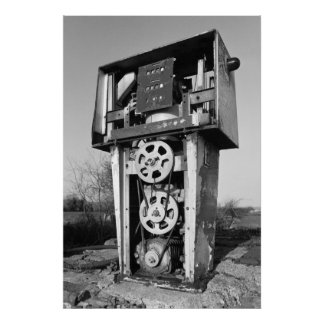 Old petrol (gas) pump poster