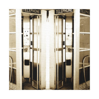 Old Phone Booths Photograph Canvas Print