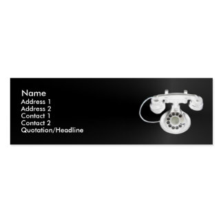 Old Phone Profile Card Double-Sided Mini Business Cards (Pack Of 20)