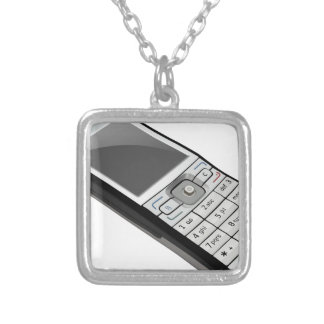 Old Phone Silver Plated Necklace