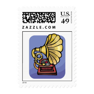 Old Phonograph Postage