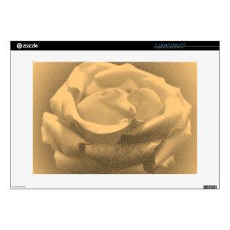 "Old Photo Beautiful Pink Rose Close-up 15"" Laptop Skins"