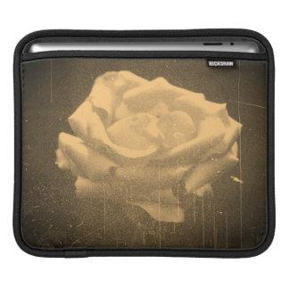 Old Photo Beautiful Pink Rose Close-up iPad Sleeve