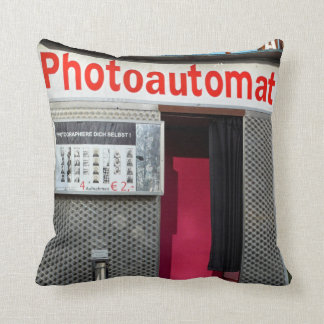 Old photo booth 001, Berlin Throw Pillow