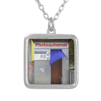 Old photo booth 004 01.0 silver plated necklace