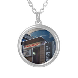 Old photo booth in Berlin, Germany Silver Plated Necklace