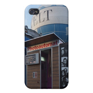 Old photo booth in Berlin (Trabi World) iPhone 4 Covers