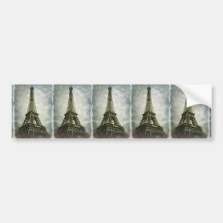 Old Photo Effect Eiffel Tower Paris Bumper Sticker