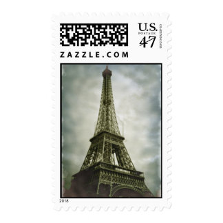 Old Photo Effect Eiffel Tower Paris Postage