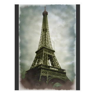 Old Photo Effect Eiffel Tower Paris Post Card