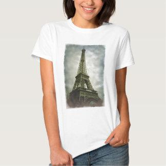 Old Photo Effect Eiffel Tower Paris T-Shirt
