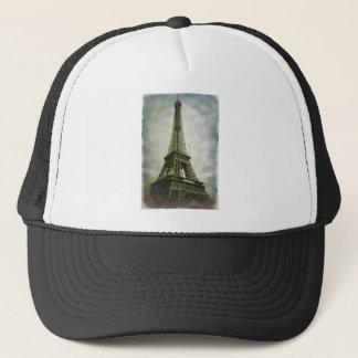 Old Photo Effect Eiffel Tower Paris Trucker Hat