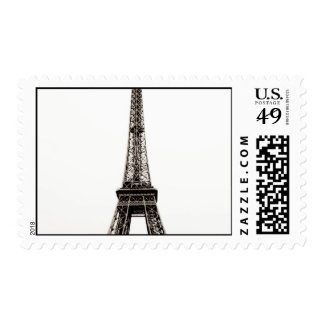 Old Photo Eiffel Tower - Love Paris Postage