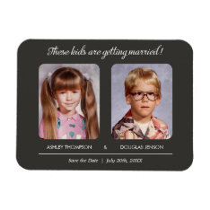 Old Photo Save The Date Magnets at Zazzle