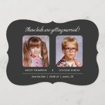 Old Photo Save the Dates Bracket Die-Cut Save The Date