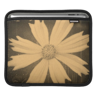 Old photo Yellow Cosmos Flower Close-up 2 iPad Sleeve