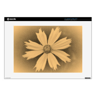 """Old photo Yellow Cosmos Flower Close-up 3 Skins For 15"""" Laptops"""