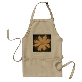 Old photo Yellow Cosmos Flower Close-up Adult Apron