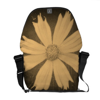 Old photo Yellow Cosmos Flower Close-up Messenger Bag