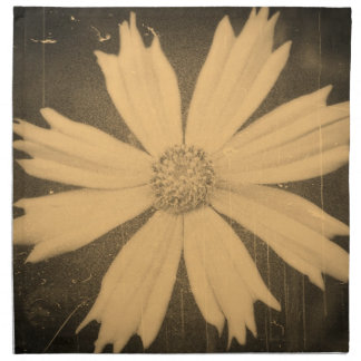 Old photo Yellow Cosmos Flower Close-up Napkin