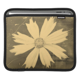Old photo Yellow Cosmos Flower Close-up Sleeve For iPads